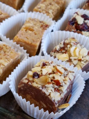 Tastes like candy, but oh so nutritious.These chocolate cherry and peanut butter bars are the best of both worlds.