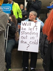 Protesters gather in Des Moines to protest Congress'