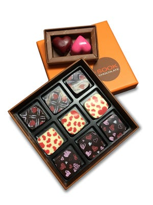 Valentine's Day chocolates from Sook Pastry in Ridgewood.
