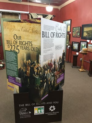 On the 225th anniversary of the Bill of Rights, the Calico Rock Museum & Visitor Center presents this exhibit and photos through February 25.