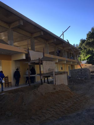 A school being built in the Dominican Republic. Kenton County Schools Superintendent Terri Cox-Cruey visited the Republic in January to help build a school.