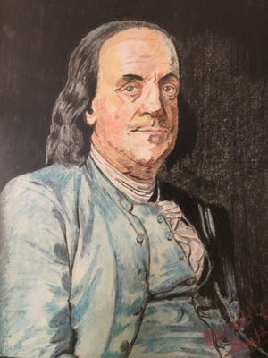 Benjamin Franklin, author, printer, newspaper editor and leader of the move for independence.