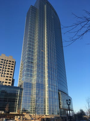 The new Northwestern Mutual tower is nearing completion in downtown Milwaukee.