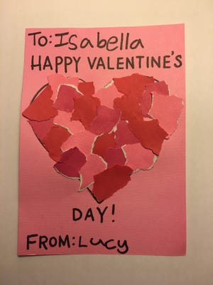 Paper hearts can be fun for kids to make for Valentine's Day.