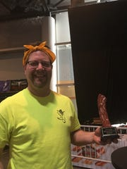 Wes Hoffart was a member of the Baconators, who won the Blue Ribbon Bacon Festival team bacon-eating contest.