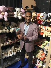Bears for Humanity co-founder Vijay Prathap. His company makes its teddy bears and stuffed animals in California.