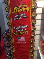 Slinky, one of the toy lines sold by Fairfield-based Alex Brands, is made in the U.S.