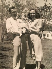 D.M. and Vi Miller with their daughter, Libby, in 1953.