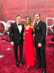Memphis' Molly Smith is flanked on the red carpet at the Oscars by her partners in the Black Label Media production company, twin brothers Trent (left) and Thad Luckinbill.
