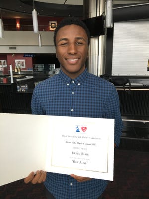 Beech High School senior Jarren Blair received third place in the GRAMMY Awards' Teens Make Music Contest and is a candidate to be a US. Presidential Scholar in the Arts.