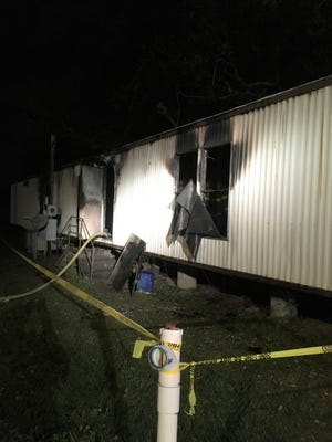 A mobile home was heavily damaged in a fire accidentally set by a 3-year-old Thursday.