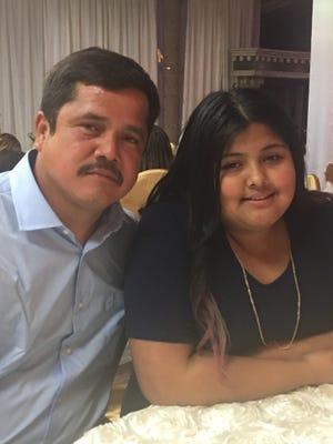 Juan Carlos Fomperosa Garcia with his daughter Karla Fomperosa.