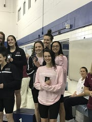 Eight Padua swimmers competed at the DIAA Girls Swimming & Diving State Championship, placing sixth out of more than 24 teams.