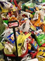 The little red wagon in the Resch Center lobby was buried beneath a pile of pet supply donations for Happily Ever After Animal Sanctuary. Country singer and animal lover Miranda Lambert asked fans at her March 2 concert to help her fill the wagon.
