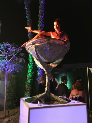 """Xochitl Pena/The Desert Sun A scene from the 2017 Modernism Week Opening Night """"Diamonds Are Forever"""" party at The Bank in Palm Springs. This year, Modernism Week attracted an estimated 97,000 attendees."""
