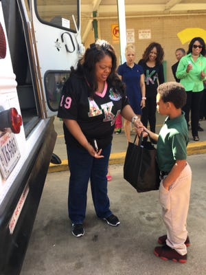 AKA sorority collected backpacks and schools supplies for area students.