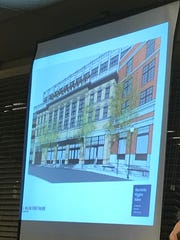 A rendering of the building facade facing South Willow Street.