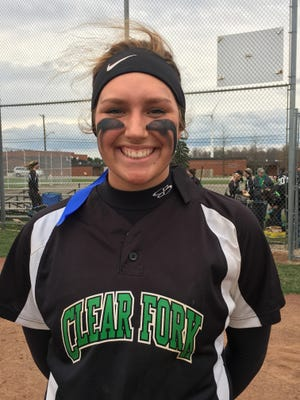 Clear Fork sophomore Haylie Miller finished with six RBIs in Monday's 9-3 win against Ontario.