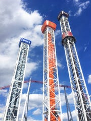 This is Hersheypark's Triple Tower ride.