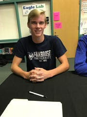 Justin Fales signed to swim for St. Ambrose University.