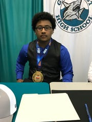 Trey Prater signed to play football at Keiser University.