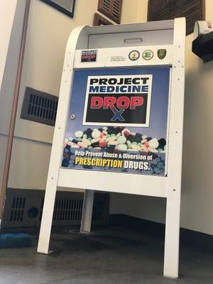 The drop-box for prescription drugs in Glen Ridge Police Headquarters.