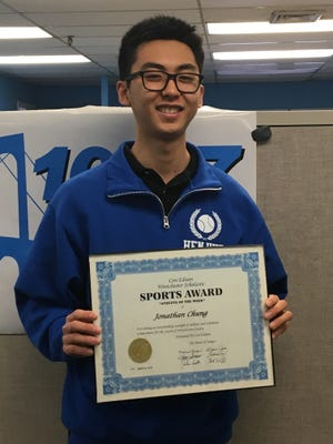 Hen Hud first doubles player Jonathan Chung is the Con Edison Athlete of the Week