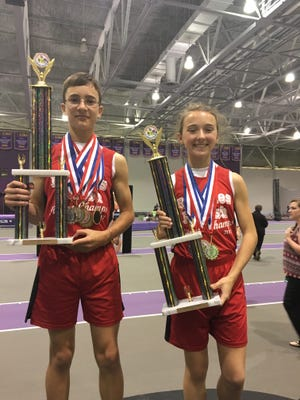 """Justin Descant and Olivia Henry placed first at a statewide fitness meet, earning the titles """"Mr. and Miss Fitness."""""""