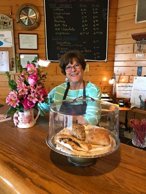 """Elizabeth """"Little Bit"""" LeClair on opening day of A Little Bit of Coffee, located at the Square Rigger Lodge in Jacksonport."""