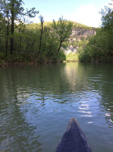 Columnist Steve Pokin for the first time floated the Buffalo National River on Tuesday. He was in a canoe with Todd Parnell, former Drury University president, who has written extensively about the river. In a second canoe was Parnell's son Patrick, and Patrick's friend Vadim Putzu.