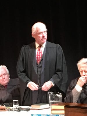 CentreStage Theatre's 'Judgment at Nuremberg' features, from left to right, Mark Rutledge, Greg Fletcher and Jim Dale Green.