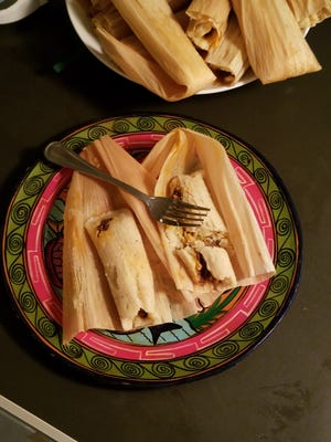 The finished tamales will be rich yet fluffy and light in texture, soft yet firm enough to hold their shape.