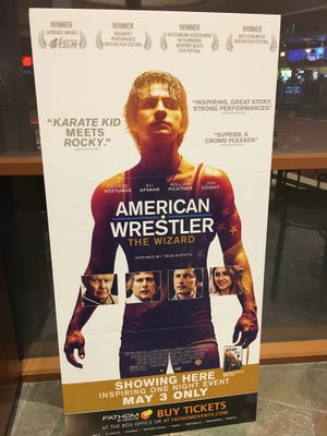 """The poster for """"American Wrestler: The Wizard"""" which premieres May 3 at Century Theatres at The River at Rancho Mirage."""