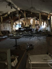 The inside of the Plainfield Opera House, which is being renovated by Matt Makaryk.