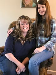Budding singer/songwriter Grace Rembinski (right, with