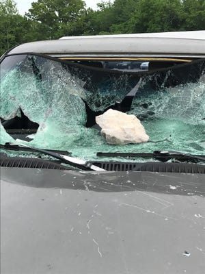 A torched semi-truck that was to be used as evidence in an investigation wasn't the first vehicle damaged at a Tennessee Highway Patrol impound lot in North Knoxville. Vandals apparently smashed windows with rocks, removed tires and license plates and spray-painted vehicles.