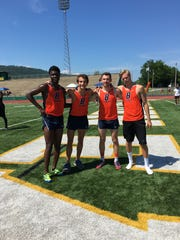 The Blackman 4x800 relay team finished second and broke