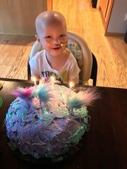 Scarlett Griffith celebrates her third birthday.