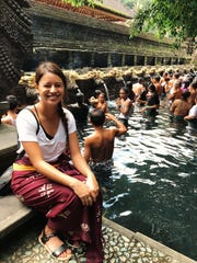 PDN reporter Chloe Babauta visits the Holy Spring Water Temple in central Bali on April 23, 2017.
