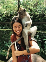 PDN reporter Chloe Babauta makes a new friend at the