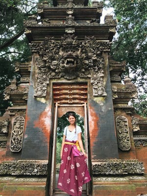 PDN reporter Chloe Babauta visits the Holy Spring Water Temple on her vacation to Bali on April 23, 2017.