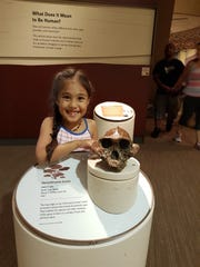Julia, age 6, visits the Smithsonian on a family vacation in June 2016.