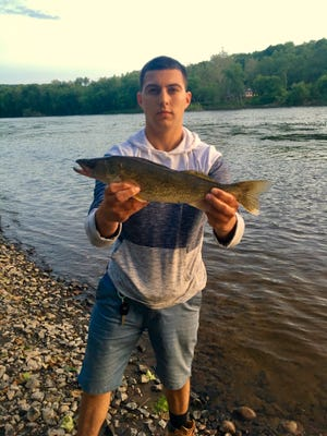 Mark Thompson caught this walleye May 19 in the Delaware south of the Lambertville wing dam on a Keitech Swimbait. The fish was just shy of 21 inches and weighed 3 pounds, 6 ounces.