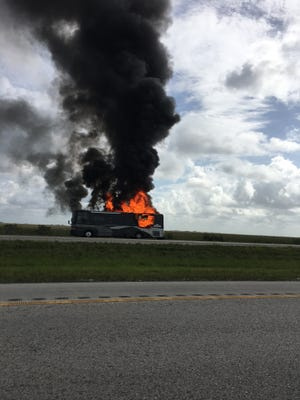 Matthew Houston, of Virginia, was on vacation in Florida when he took this photo of a vehicle fire.
