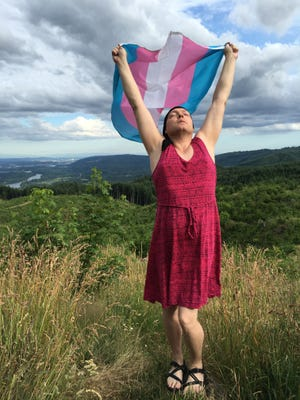 Jamie Shupe, the first person to be legally recognized as gender non-binary, at home in Oregon.
