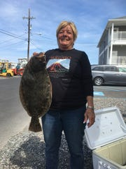 Connie Crocono, Barnegat, with a fluke.