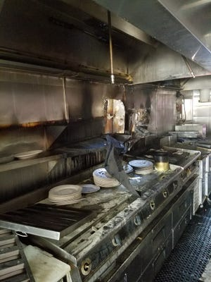 Fire damaged the kitchen at the Bus Stop Luncheonette in Carteret.