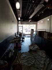 The main area of JJ's Organic Grill, still under construction.