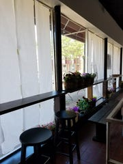 The window seating in JJ's Organic Grill in Red Bank.