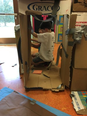 In Have a Blast, students built castles out of cardboard boxes.
